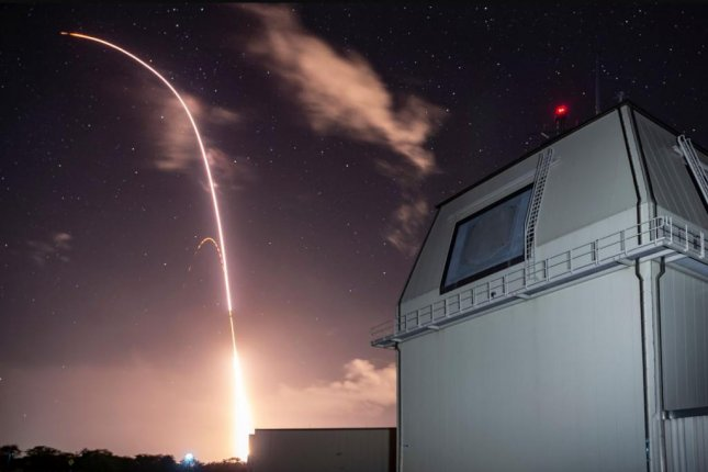 A missile is launched from the Aegis Ashore Missile Defense Test Complex at the Pacific Missile Range Facility at Kauai, Hawaii, on December 10, 2018. Photo courtesy of U.S. Army