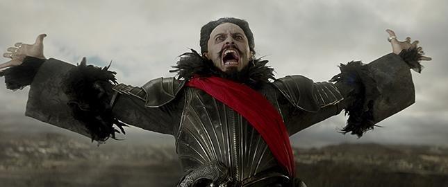 Hugh Jackman as the pirate Blackbeard in Pan. Warner Bros.