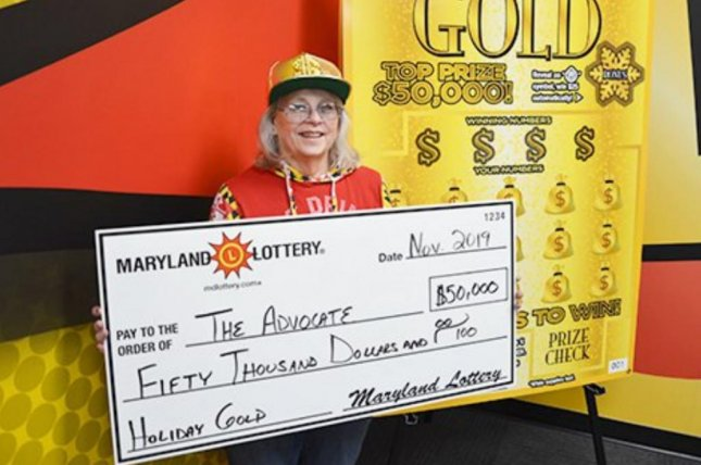 A Maryland Lottery player collected her second $50,000 scratch-off prize in only two months. Photo courtesy of the Maryland Lottery