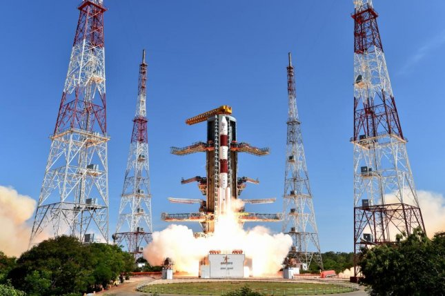 The Indian Space Research Organization announced Wednesday that it had successfully launched 20 satellites in one Polar Satellite Launch Vehicle flight earlier in the day. Photo courtesy of Indian Space Research Organization.