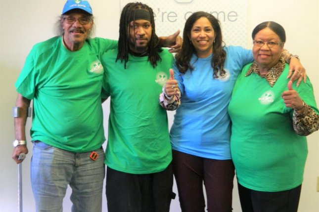 A Virginia man brought his family with him to the state's lottery headquarters to claim his second $200,000 prize. Photo courtesy of the Virginia Lottery