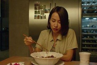 The character played by actress Cho Yeo-jeong eats an instant noodle dish called Jjapaguri in the Oscar-winning movie Parasite. Photo courtesy of CJ ENM