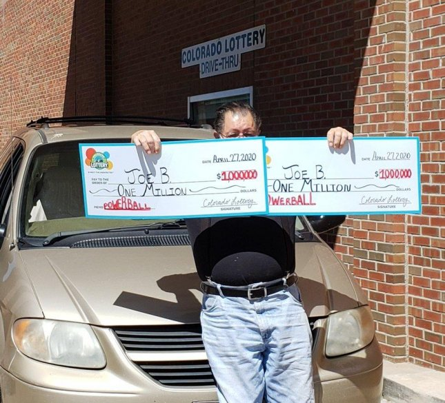A Colorado man ended up winning a pair of $1 million Powerball prizes when he bought two tickets bearing the same set of numbers. Photo courtesy of the Colorado Lottery