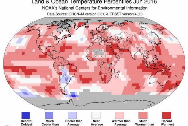 June 2016 was the hottest June on record, ending the hottest half-year in recorded history. Photo by NOAA/NCDC