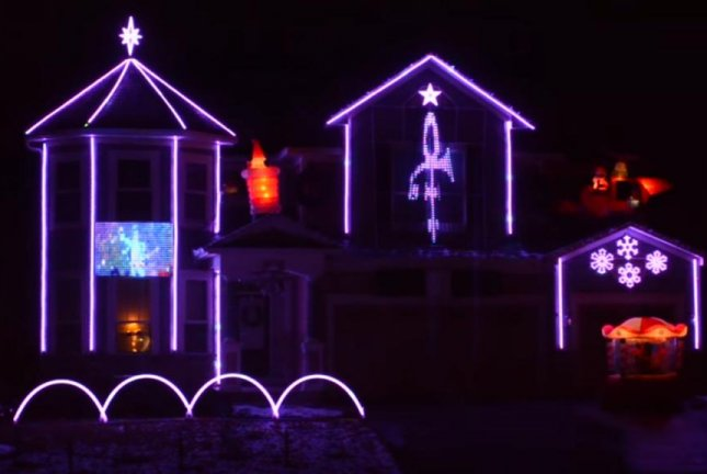 a minnesota familys christmas light display pays tribute to prince screenshot lights on pascoloyoutube