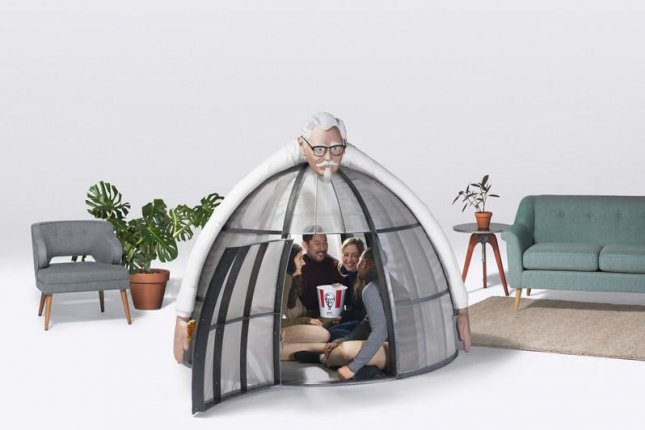 KFC is offering a $10,000 indoor tent designed to block Internet and cellphone signals. Photo courtesy of KFC