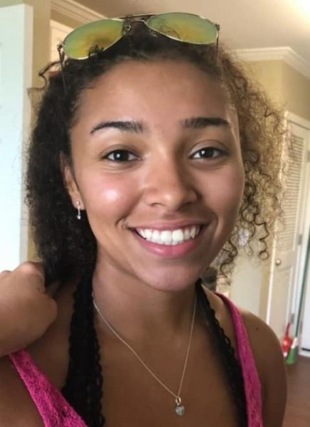 Aniah Blanchard was reported missing Oct. 24, a day after she was last seen in CCTV footage making a purchase at an Auburn, Ala., convenience store. Photo courtesy of Auburn Police Department/Website