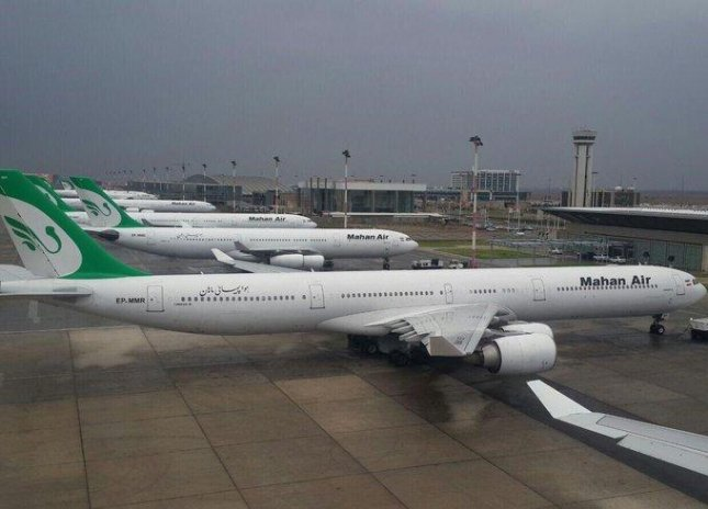 The United States sanctioned Mahan Air in 2011 for providing material support to Iran's elite Islamic Revolutionary Guard Crops and again in 2019 for shipping U.N.-restricted missile and nuclear items to Iran. Photo courtesy of Mahan Air/Twitter
