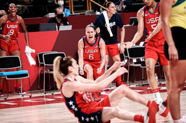 Team USA defeat Australia Wednesday to advance to the semifinals in women's basketball. Photo courtesy of USA Basketball/Twitter