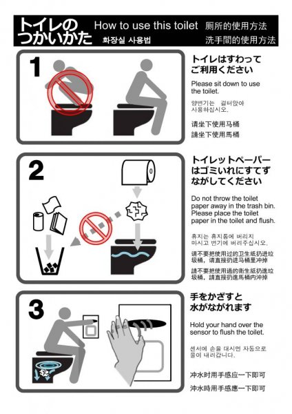 Japanese city posts toilet instructions for confused tourists