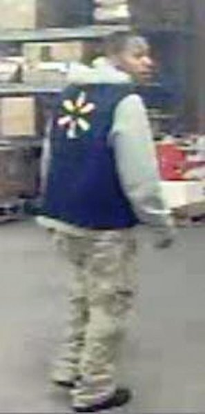 Crime stoppers in Virginia are looking for information about a man who posed as a Walmart employee to shoplift several televisions from a local store. Photo by  Chesterfield County/Colonial Heights Crime Solvers/Facebook