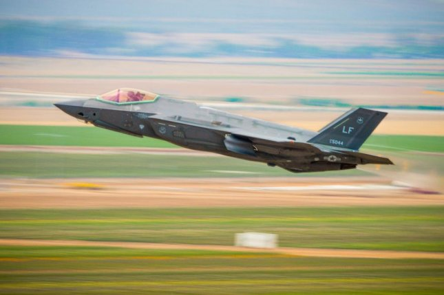 An F-35A lightening II takes off at Lake Air Force Base. U.S. Air Force photo