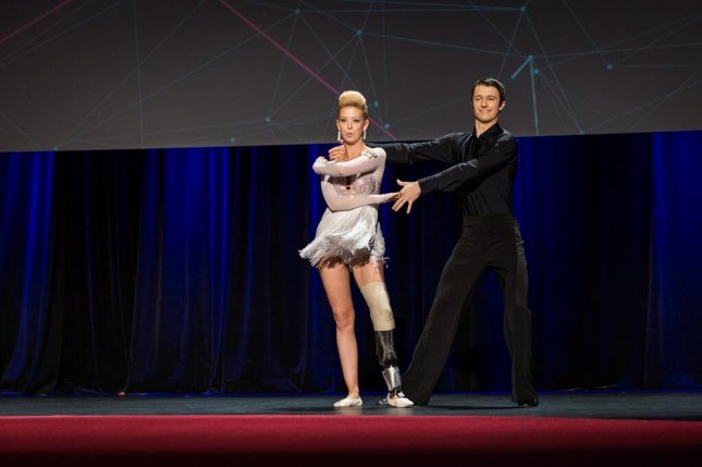 Adrianne Haslet-Davis dances again for the first time since she lost a leg in the Boston Marathon attack. (Twitter/TED)