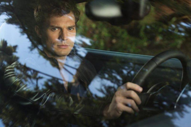 Jamie Dornan as Christian Grey in Fifty Shades of Grey.
