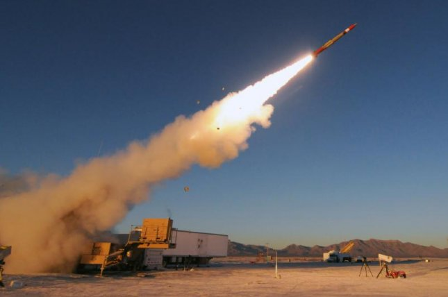 A Lockheed Martin interceptor successfully intercepted an Air-Breathing Threat with a PAC-3 Patriot missile in a test last July at White Sands Missile Range, N.M. Photo courtesy of Lockheed Martin
