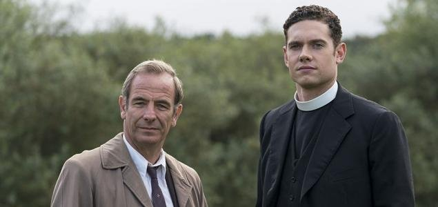 Robson Green and Tom Brittney are returning for Season 5 of Grantchester. Photo courtesy of ITV