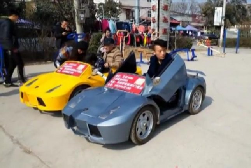 Watch: Chinese grandpa builds electric Lamborghini replicas - UPI.com