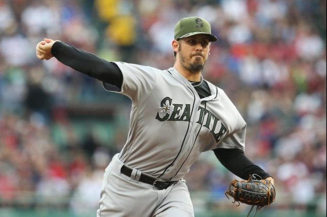 Christian Bergman pitched seven innings, giving up only four hits against the Red Sox on Sunday. Photo courtesy Seattle Mariners/Twitter.
