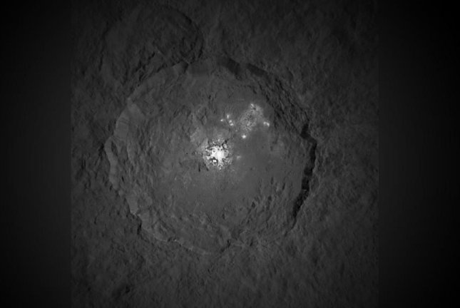 The closest image of the Ceres bright spot yet. Photo by NASA/JPL