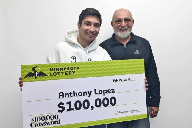 A Minnesota man won $100,000 on the first lottery ticket he ever purchased. Photo courtesy of the Minnesota Lottery