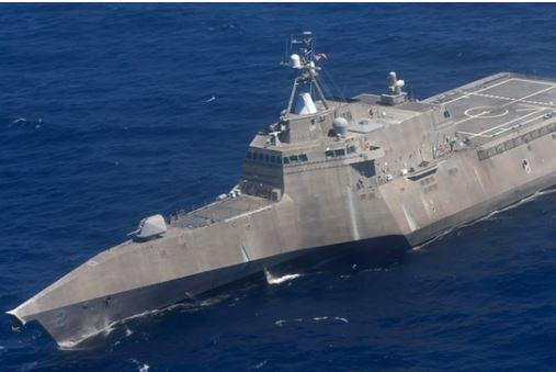 The U.S. Navy formally took delivery of its newest littoral combat ship, to be named USS Cincinnati, in ceremonies in Mobile, Ala., on Friday. Photo by MCS1 Carlos Gomez/U.S. Navy