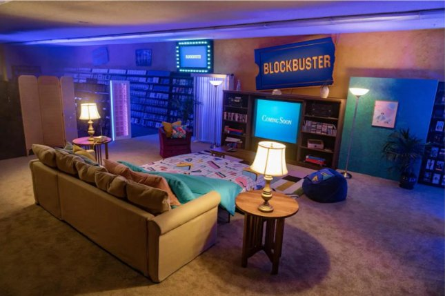 The last Blockbuster video store in the world, located in Bend, Ore., is being listed on Airbnb for a series of 90s-themed sleepovers. Photo courtesy of Airbnb