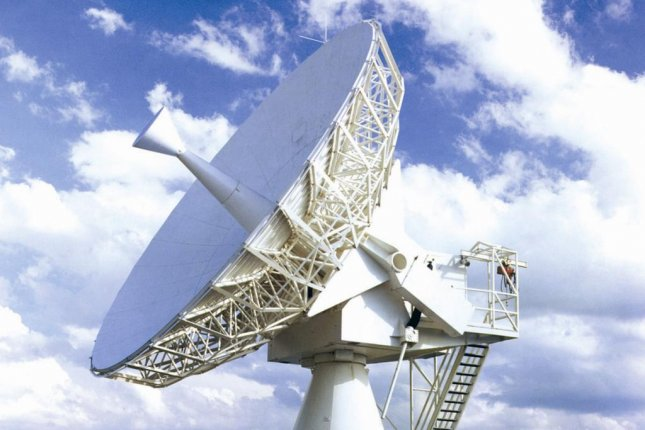 A satellite communications terminal by Harris Corporation. Photo courtesy Harris