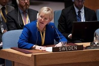 Swedish Foreign Minister Margot Wallstrom called for more involvement by European Union members in dealing with the influx of refugees to Europe. File photo by Kim Haughton/UN
