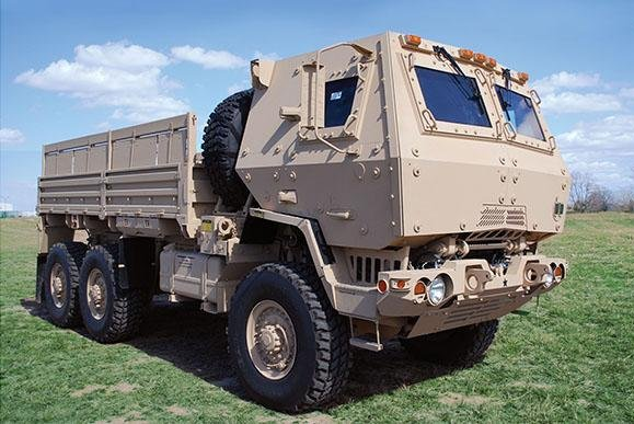 A Henderson, Ky.-based company was awarded a contract for work on the Defense Department's Family of Medium Tactical Vehicles. The LTAS M1083A1P2 cargo truck, shown here, is part of that family of vehicles. Photo courtesy of U.S. Army