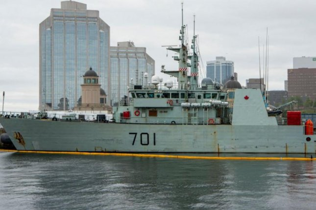 The Canadian Armed Forces frigate HMCS Ville de Quebac left Halifax, N.S., on Tuesday to participate in the Arctic military exercise Nanook-Tuugaalik. Photo courtesy of Royal Canadian Navy/Twitter