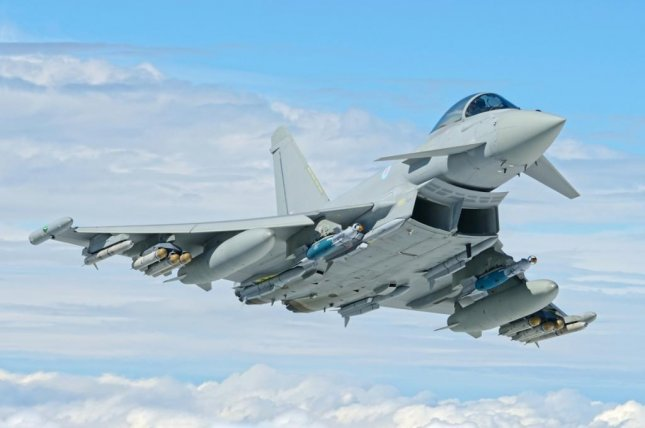 The Eurofighter Typhoon, offered as a replacement for F-16s flown by Belgium. Photo courtesy Eurofighter