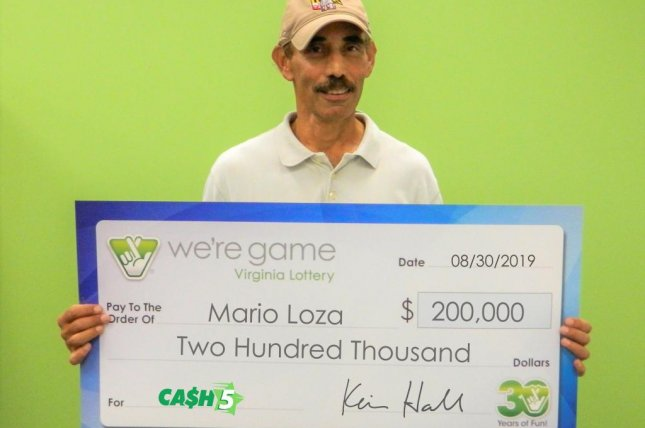 A Maryland man had to make two separate trips to a lottery office when he realized he had a second ticket bearing the same winning numbers. Photo courtesy of the Virginia Lottery