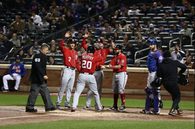 Daniel Murphy's grand slam against his former team powered the Nationals to a sweep of the Mets. Photo courtesy Washington Nationals via Twitter.