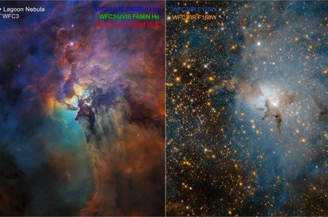 Lagoon Nebula Dazzles in Hubble Telescope's 28th-Birthday Photos