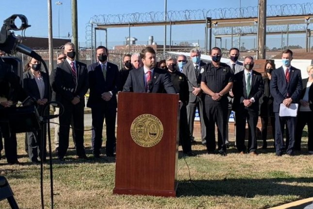 U.S. Attorney Peter McCoy, Jr., of the District of South Carolina on Thursday announced 40 people have been charged in the state's largest-ever racketing case.Photo courtesy of U.S. Attorney's Office for the District of South Carolina/Twitter