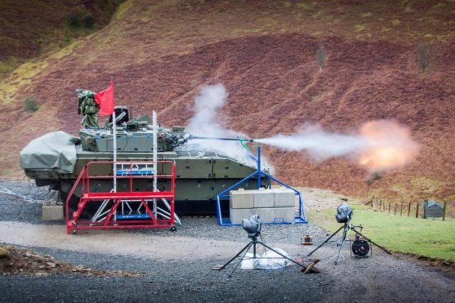 The Scout SV, to be renamed Ajax, armored fighting vehicle conducts live-fire tests. Photo courtesy U.K. Ministry of Defense