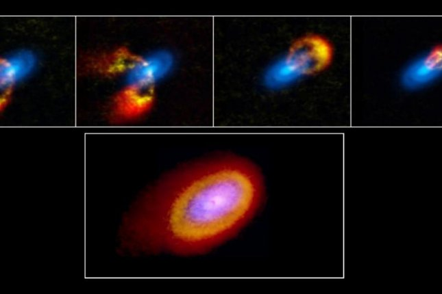 For the first time, scientists directly measured gas velocity in the protoplanetary disk surrounding a young star. Photo byALMA (ESO/NAOJ/NRAO)/T. Paneque-Carreño (Universidad de Chile), B. Saxton (NRAO)
