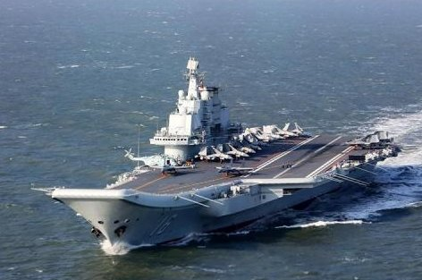 Taiwan issued a warning after Beijing's first aircraft carrier, the Liaoning, was seen sailing to the Western Pacific. File Photo by Xinhua