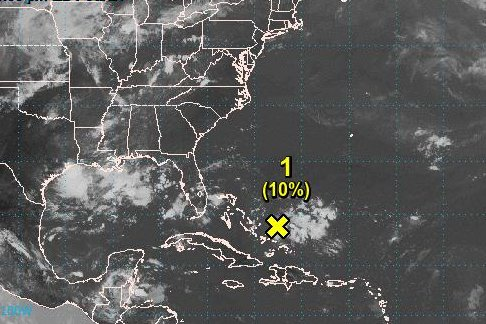 Bahamian low pressure becomes tropical depression Monday afternoon