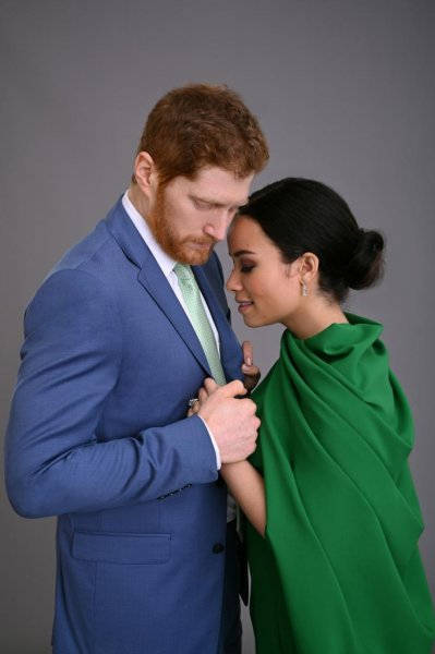 Jordan Dean (L) and Sydney Morgan are the third actors to play Prince Harry and Meghan Markle for Lifetime. Photo courtesy of Lifetime