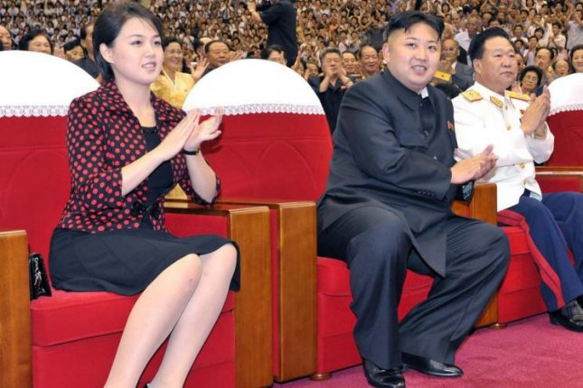 Ri Sol Ju, North Korea's first lady, has been out of the public spotlight for the last seven months. Ri was not seen with North Korean leader Kim Jong Un during recent site visits. File Photo by KCNA