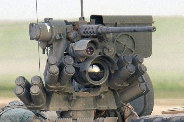 A Kongsberg Protector remote weapons system on a U.S. military vehicle. USAF Photo by TSGT Mike Buytas