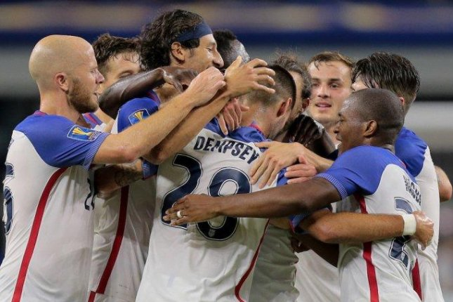 Texas native Clint Dempsey came off the bench to spark the United States with a record-tying goal and an assist in a 2-0 victory over Costa Rica in a semifinal match of the CONCACAF Gold Cup at AT&T Stadium in Arlington, Texas, on Saturday. Photo courtesy of U.S. Soccer/Twitter