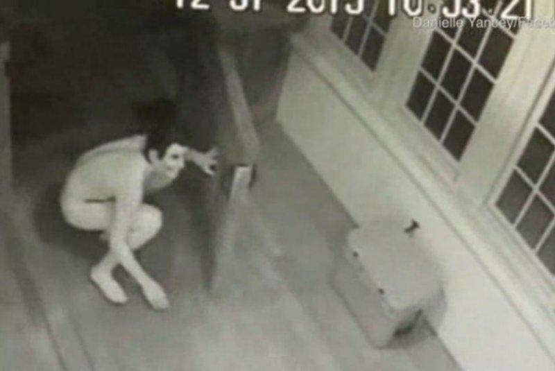 Surveillance camera nude