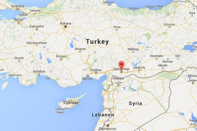 Gaziantep is about 35 miles from the Syrian border. Google Map
