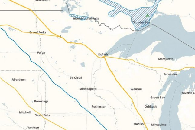 A judge in Minnesota ruled that it's appropriate for Enbridge to replace its controversial Line 3 in the state. Map courtesy of Enbridge.