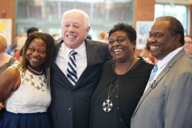 Phil Bredesen (second from L) won the Democratic primary for the U.S. Senate seat from Tennessee Thursday. He will face Republican Marsha Blackburn, who won her primary, in November. Photo courtesy of Phil Bredesen/Facebook