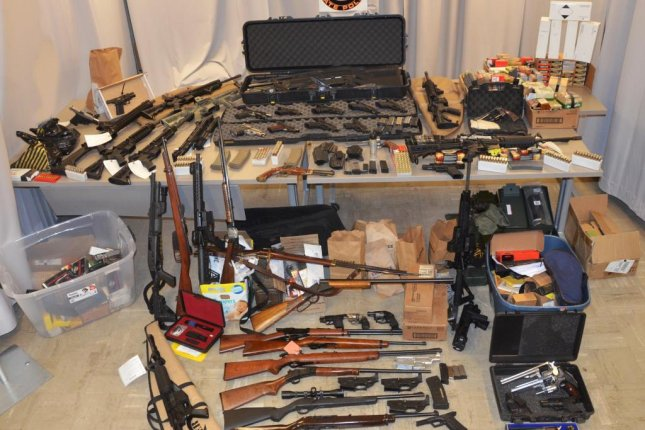 Gregg Marinelli, 38, a sergeant with the city's Department of Environmental Protection Police, has been accused of illegally making handguns and assault weapons, then selling them to criminals, N.Y. State Police said. Photo courtesy New York State Police