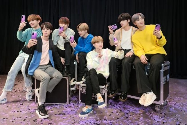 Samsung Electronics is launching a special edition Galaxy S20 smartphone featuring K-pop band BTS. Photo courtesy of Samsung Electronics
