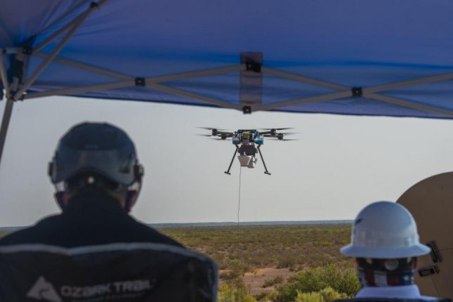 A communications drone, an element of the U.S. Air Force Advanced Battle Management System, is tested at White Sands Missile Range, N.M., in August. Photo by Senior Airman Daniel Garcia/U.S. Air Force